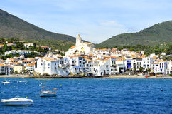 Cadaques view (Girona, Catalonia, Spain). Cadaques is a town in the Alt Empordà comarca, in the province of Girona, Catalonia, Spain Royalty Free Stock Photography