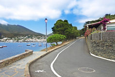 Cadaques view with road Stock Photo