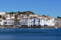 Cadaques village on the Mediterranean seaside Stock Photos