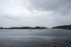 Cadaquesbaai en kust stock fotografie