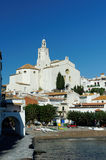 Cadaqueskerk stock afbeelding