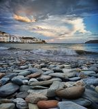 Cadaqués rocky beach Royalty Free Stock Photography
