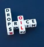 Caídas de precios del aceite Imagen de archivo libre de regalías