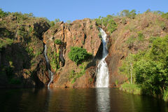 Caídas de Wangi. Parque nacional de Litchfield. Austra Imagen de archivo libre de regalías