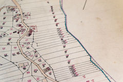Cadastral Map Royalty Free Stock Photography