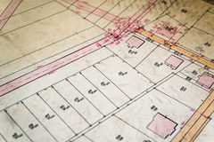 Cadastral Map Royalty Free Stock Images
