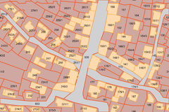 Cadastre (imaginary seamless image). Cadastral background like a seamless pattern Royalty Free Stock Photography