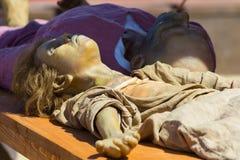 Cadavere falso Fotografie Stock Libere da Diritti