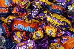 Cadbury candy heap Stock Photos