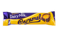 Cadbury Dairy Milk Caramel Chocolate Bar Royalty Free Stock Photography