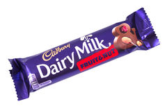 Cadbury Dairy Milk Fruit and Nut Chocolate Bar Royalty Free Stock Images