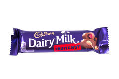 Cadbury Dairy Milk Fruit and Nut Chocolate Bar Stock Photo