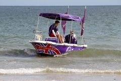 Cadbury ice-cream boat Royalty Free Stock Image