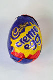Cadbury`s Creme Egg. CHESTER, UNITED KINGDOM - March 19 2017: Cadbury`s Creme Egg. A popular chocolate treat for the Easter holidays Stock Images