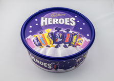 Cadburys Heroes Tub. CHESTER, UK - JANUARY 28TH 2017: A close-up of the Cadbury Heroes tub with lid on Stock Image