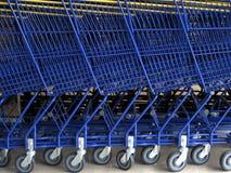 Caddies o supermercado Foto de Stock Royalty Free