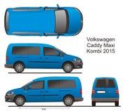 Caddy макси Combi 2015 VW Стоковая Фотография RF