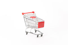 Caddy for shopping in supermarket Stock Photos