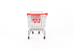 Caddy for shopping in supermarket Stock Images