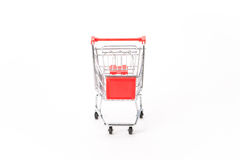 Caddy for shopping in supermarket Royalty Free Stock Images