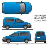 Caddy SWB Kombi 2015 VW Стоковая Фотография
