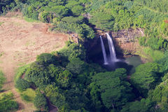 cade il wailua del Kauai Fotografia Stock