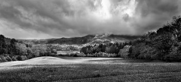Cade's Cove Morning Panorama Stock Photography