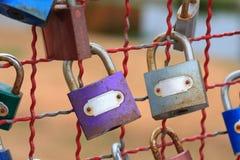 Cadeado colorido foto de stock
