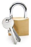 Cadeado com chaves Imagem de Stock