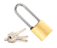 Cadeado com chaves Imagens de Stock