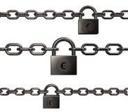 Cadeado com euro- símbolo Imagem de Stock Royalty Free