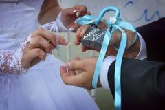 Cadeado do amor Imagem de Stock