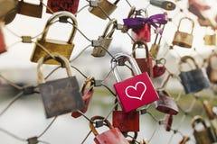 Cadeado do amor Foto de Stock Royalty Free