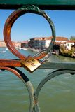Cadeado do amor em Veneza Fotografia de Stock Royalty Free