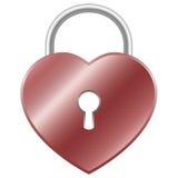 Cadeado do coração Imagens de Stock