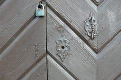 Cadeado e botão fotografia de stock