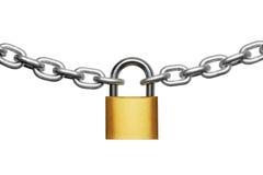 Cadeado e corrente Imagens de Stock Royalty Free