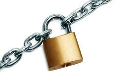 Cadeado e corrente Fotografia de Stock