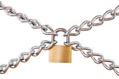 Cadeado e correntes Fotografia de Stock Royalty Free