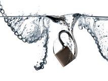 Cadeado e correntes Fotografia de Stock