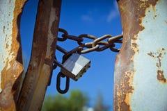 Cadeado fechado no céu Imagem de Stock