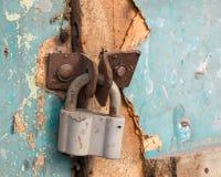 Cadeado locked velho Fotografia de Stock