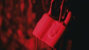 Cadeado na cor cor-de-rosa video estoque