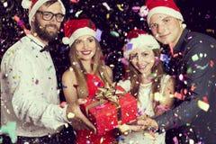 Cadeau à minuit Image stock