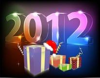Cadeau au néon 2012 ans Photographie stock libre de droits