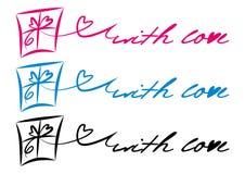 Cadeau-avec-amour Image stock