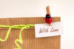 Cadeau avec amour Photo stock