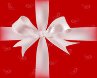 Cadeau avec des bandes Photo libre de droits
