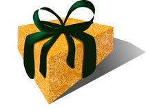 Cadeau avec la bande de velours et l'enveloppe de brocard Photos libres de droits