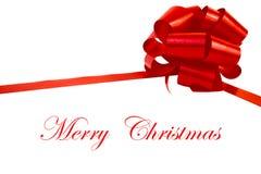 Cadeau avec la décoration rouge de Noël Photographie stock libre de droits